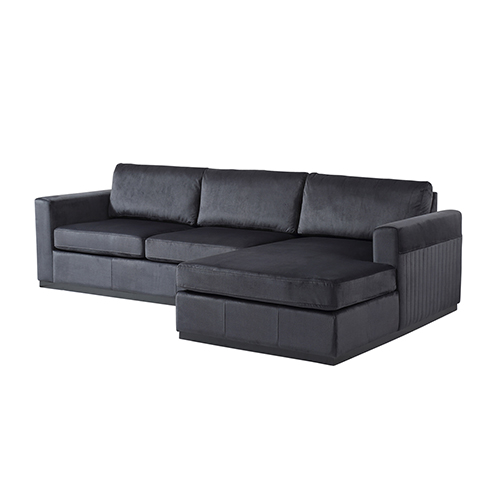 Napoli 3 Seater Black Colour Sofa With Chaise