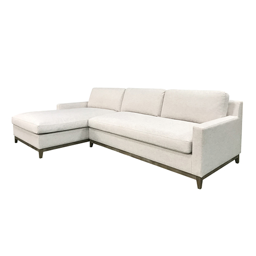 Twilight 3 Seater White Colour Sofa With Chaise