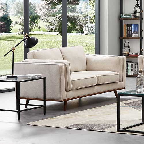 York 2 Seater Armchair Sofa Modern Lounge in Multiple Colour