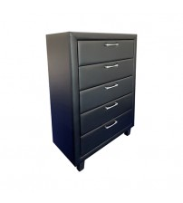 Albany Five Drawers Black Tallboy