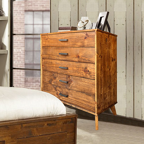 Cob&Co Five Drawers Tallboy Rustic Colour
