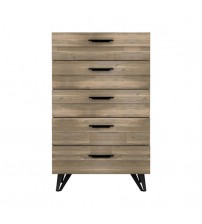 Havana Wooden Colour 5 Drawers Tallboy