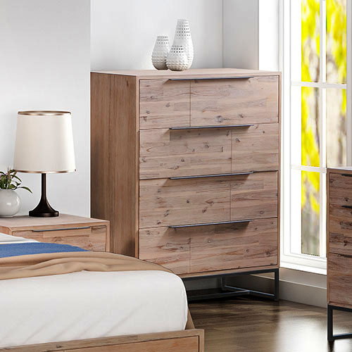 Hannah 4 Drawers MDF Tallboy