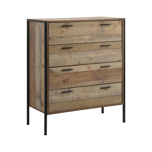 Mascot Tallboy 4 Storage Drawers Particle board Construction in Oak Colour